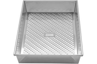 (Rectangular Cake Pan) - Chicago Metallic 5237986 Uncoated Textured Aluminium Rectangular Cake Baking Pan, 23cm -by-33cm , Silver