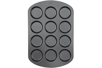 (Whoopie Pie) - Wilton 12-Cavity Whoopie Pie Baking Pan, Makes Individual 7.6cm Diameter Baked Goods and Treats, Non-Stick and Dishwasher-Safe, Enjoy or Give as Gift, Metal (1 Pan)