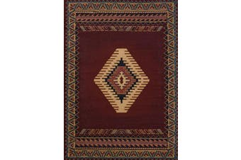 (0.3m x 0.9m, Burgundy) - United Weavers of America Tucson Manhattan Rug Collection, 0.3m by 0.9m, Burgundy