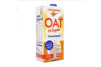Pure Harvest Organic Oat Milk Unsweetened 1L