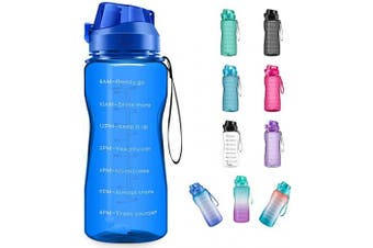 (1890ml, blue) - 4AMinLA Motivational Water Bottle 642960ml Half Gallon Jug with Straw and Time Marker Large Capacity Leakproof BPA Free Fitness Sports Water Bottle