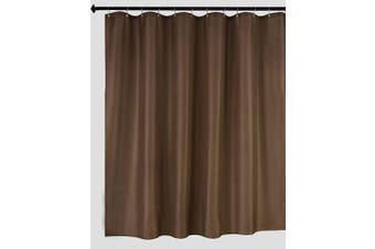 (180cm  X 180cm , Brown) - Biscaynebay Fabric Shower Curtain Liners Water Resistant Bathroom Curtain Liners, Brown 180cm by 180cm