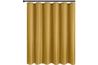 (180cm  X 180cm , Gold) - Biscaynebay Fabric Shower Curtain Liners Water Resistant Bathroom Curtain Liners, Gold 180cm by 180cm