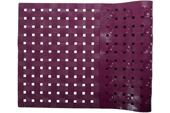(Wine Red) - ALL PRIDE Bathtub and Shower Mat, Non Slip, Washable, Woven Design, Best Choice for Kids Bath Mat for Tub and Shower, 70cm x 38cm , Wine Red