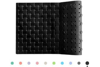 (Black) - ALL PRIDE Bathtub and Shower Mat, Non Slip, Machine Washable, Woven Design, Perfect Bath Mat for Tub and Shower for Kids and Elderly, 70cm x 41cm , Black