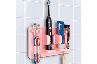 (Pink) - Mspan Toothbrush Razor Holder for Shower: Electric Toothbrush Stand Organiser Suction Hanging Wall Mounted for Bathroom, Pink