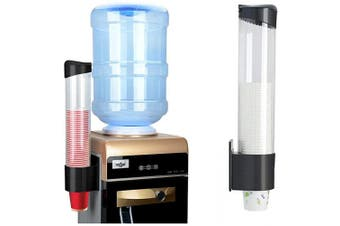 (Medium) - IWNTWY Cup Dispenser Pull Type Paper Water Disposable Automatic Remover Cup Holder for Home Office Hospital (Black, Medium)