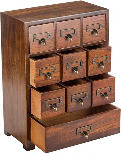 Tall 27cm X 38cm X 14cm Primo Supply Traditional Solid Wood Small Chinese Medicine Cabinet L Vintage And Retro Look With Great Storage Apothecary Drawer Herbal Dresser L Great