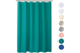 (180cm W*210cm H, Turquoise) - AmazerBath Plastic Shower Curtain, 180cm W x 210cm H Thick Bathroom Shower Curtains No Smell with Rust-Resistant Grommet Holes-Turquoise
