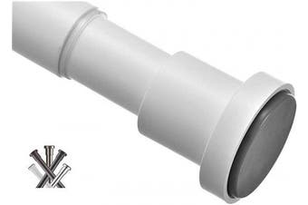 (27-110cm , Matte White) - BRIOFOX Tension Curtain Rod 27-110cm , Rust-Resistance Shower Curtain Rod for Windows or Doorways, Matte White