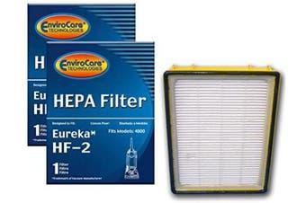 (2) - (2) Eureka HF2 Hepa Pleated Filter HF-2 Eureka Upright Ultra Smart, Boss, Omega, UltraSmart Vac Cyclonic, Whirlwind Vacuum cleaners, 61111, 61495, 61111A, 61111B, 61111C BY ENVIROCARE