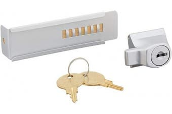 (Alike, Silver Aluminium) - CRL Aluminium Finish Stick-On Showcase Lock - Keyed Alike