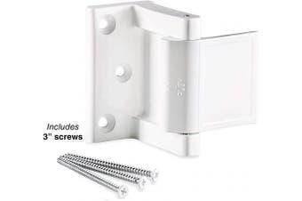 (White) - Berlin Modisch Door Lock Reinforcer Privacy Door Latch for in-Swinging Doors Extra High Resistance Home Door Security Lock White Finish