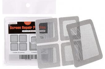 S L Gray By Rho Window And Door Screen Repair Patch Kit 25 Patches 1 X 1 X 20pcs 3 X 3 X 5pcs Kogan Com
