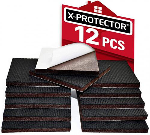 "Non Slip Furniture Pads X-PROTECTOR – Premium 12 pcs 3"" Furniture Pad! Best Furniture Grippers - SelfAdhesive Rubber Feet - Furniture Floor Protectors for Keep in Place Furniture & Furniture Stoppers Brand: X-Protector Dimensions: 16.3 × 9.1 × 4.6 centimetres"
