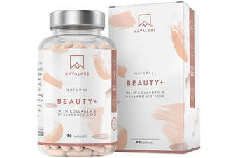AAVALABS Hydrolyzed Porcine Collagen [ 2500mg ] - for a Natural Glow - Enhanced w/Hyaluronic Acid 500-700 kDa, Vitamin C, Zinc
