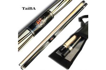 "(590ml, Black) - TaiBA 2-Piece Pool Stick, 13mm Tip, 58"", Hardwood Canadian Maple Professional Billiard Pool Cue Stick -Black, White, Pink, Green,"
