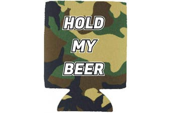 (1, Camo) - Hold My Beer Magnetic Neoprene Collapsible Can Coolie (Camo, 1)