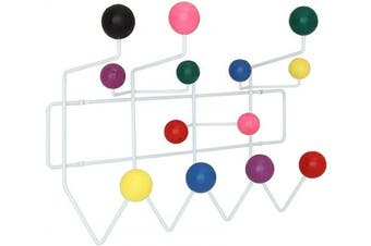 (Multicolored) - Modway Gumball Mid-Century Wall-Mounted Coat Rack in Multicoloured