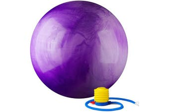 (75 cm, Purple) - Black Mountain Products 910kg Static Strength Multi Coloured Stability Ball