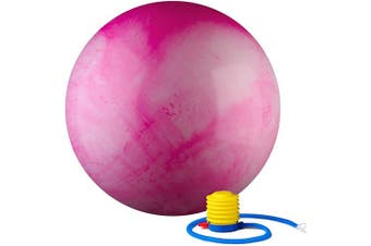 (55 cm, Pink) - Black Mountain Products 910kg Static Strength Multi Coloured Stability Ball
