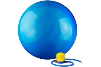 (75 cm, Blue) - Black Mountain Products 910kg Static Strength Multi Coloured Stability Ball