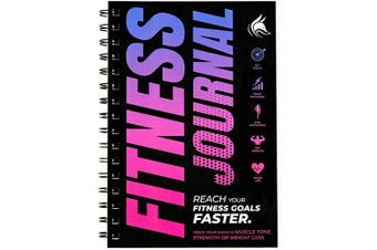 (Pink and Dark Purple) - Clever Fox Fitness & Workout Journal/Planner Daily Exercise Log Book to Track Your Lifts, Cardio, Body Weight Tracker - Spiral-Bound, Laminated Cover, Thick Pages, A5