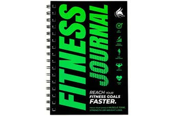 (Neon Green) - Clever Fox Fitness & Workout Journal/Planner Daily Exercise Log Book to Track Your Lifts, Cardio, Body Weight Tracker - Spiral-Bound, Laminated Cover, Thick Pages, A5