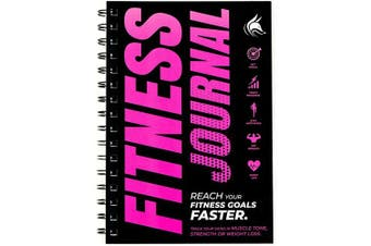(Pink) - Clever Fox Fitness & Workout Journal/Planner Daily Exercise Log Book to Track Your Lifts, Cardio, Body Weight Tracker - Spiral-Bound, Laminated Cover, Thick Pages, A5