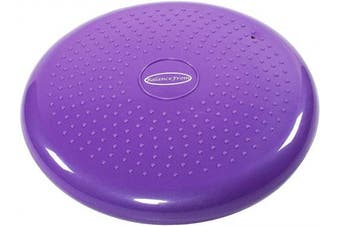 (Purple) - BalanceFrom Inflated Balance Disc Wobble Cushion Stability Core Trainer for Home or Office Desk Chair Kids Classroom Sensory Wiggle Seat, Pump Included