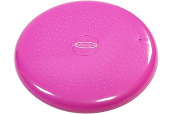 (Pink) - BalanceFrom Inflated Balance Disc Wobble Cushion Stability Core Trainer for Home or Office Desk Chair Kids Classroom Sensory Wiggle Seat, Pump Included