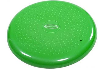(Green) - BalanceFrom Inflated Balance Disc Wobble Cushion Stability Core Trainer for Home or Office Desk Chair Kids Classroom Sensory Wiggle Seat, Pump Included