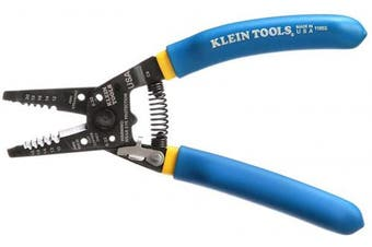 (Klein-Kurve, 10 - 18 AWG Solid, 12 - 20 AWG Stranded) - Klein Tools 11055 Wire Cutter and Wire Stripper, Stranded Wire Cutter, Solid Wire Cutter, Cuts Copper Wire