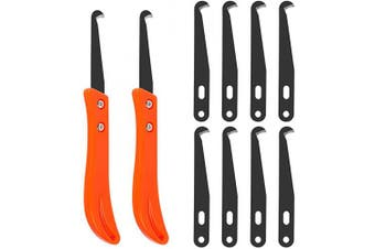 (Orange) - FOCCTS 12PCS Tile Joint Tool Grout Removal Scraping off Edges Caulking Tool Kit for Kitchen, Bathroom, Bedroom, Tiles Gap
