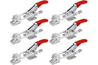 BNYZWOT Toggle Clamp 40323 Heavy Duty Hand Tool Quick Release Metal Holding Capacity Latch Type 160kg 6Pcs