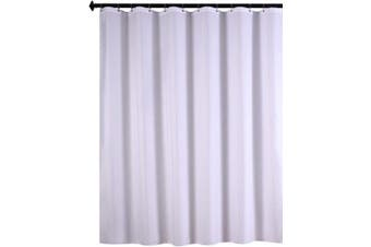 (180cm  X 210cm , White) - Biscaynebay Fabric Shower Curtain Liners, Water Resistant Bathroom Curtain Liners, White 180cm Width by 210cm Height