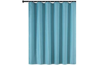 (180cm  X 180cm , Blue) - Biscaynebay Fabric Shower Curtain Liners Water Resistant Bathroom Curtain Liners, Blue 180cm by 180cm