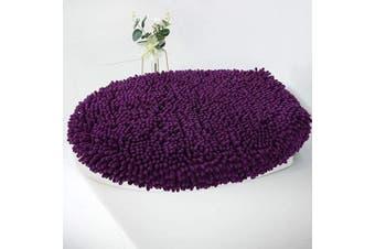 (Standard Lid, Plum) - MAYSHINE Seat Cloud Bath Washable Shaggy Microfiber Standard Toilet Lid Covers for Bathroom -Plum