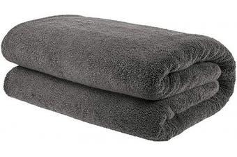 (Oversize Bath Towel 100cm  x 200cm , Gray) - American Bath Towels, 40x80 Soft and Absorbent 650 GSM Premium Hotel and Spa Quality Oversized Organic Turkish Cotton Bath Sheet Towel, Grey