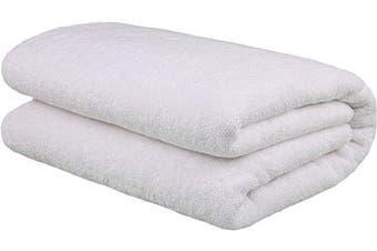 (Oversize Bath Towel 100cm  x 200cm , White) - American Bath Towels, 40x80 Soft & Absorbent 650 GSM Premium Hotel & Spa Quality Oversized Ringspun Genuine Cotton Turkish Bath Sheet Towel, White