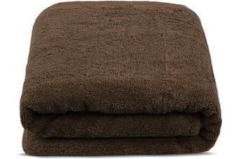 (100cm  x 200cm , Cocoa) - Turkuoise Premium Quality Bath Sheet, Extra Large, 100% Turkish Cotton (Cocoa, 100cm x 200cm )