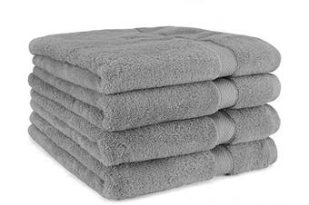 (4-Piece, Gray) - Cosy Homery Luxury Egyptian Cotton Bath Towels | Large 55 X 28'' Ultra Soft & Highly Absorbent Luxury Bath Towel Set | 650 GSM Hotel Spa Quality Bath Sheets | 4 Piece
