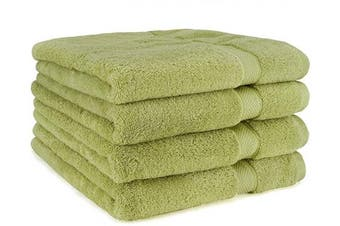 (4-Piece, Green) - Cosy Homery Luxury Egyptian Cotton Bath Towels | Large 55 X 28'' Ultra Soft & Highly Absorbent Luxury Bath Towel Set | 650 GSM Hotel Spa Quality Bath Sheets | 4 Piece