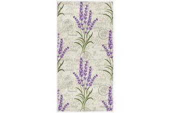 (Retro Lavender) - Pfrewn Retro Lavender Stamp Hand Towels 41cm x 80cm Spring Summer Flowers Bathroom Towel Ultra Soft Highly Absorbent Grungy Floral Small Bath Towel Kitchen Dish Guest Towel Home Bathroom Decorations