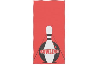 (Bowling Ball) - Naanle Stylish Bowling Pins Pattern Soft Absorbent Guest Hand Towels for Bathroom, Hotel, Gym and Spa (41cm x 80cm )
