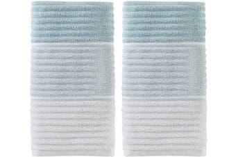 (Hand Towels, Aqua, Set of 2, Aqua) - SKL Home by Saturday Knight Ltd. Planet Ombre 2-Piece Hand Towel Set, Aqua