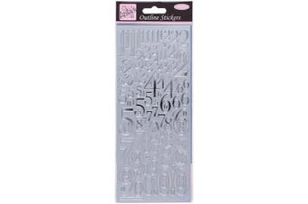 Anita's Mixed Numbers Outline Stickers - Silver