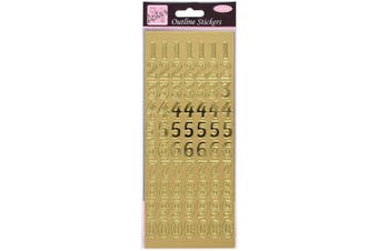 (Gold, 10.5 x 0.1 x 27.5 cm) - Anita's Large Numbers Outline Stickers - Gold