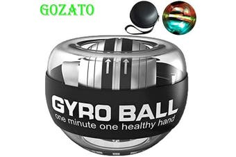 (Colourful Light-Transparent) - GOZATO Wrist Trainer Ball Auto-Start Excerises Arm Strengthener Essential Gyroscopic Wrist and Forearm Exerciser Wrist Ball for Stronger Muscle and Bones Workout