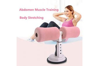 (Black White) - Portable Self-Suction Sit-up Bar Abdominal Core Trainer Curl Movement Auxiliary Device Adjustable Appliance Household Fitness Equipment for Push Ups Muscle Training Body Stretching